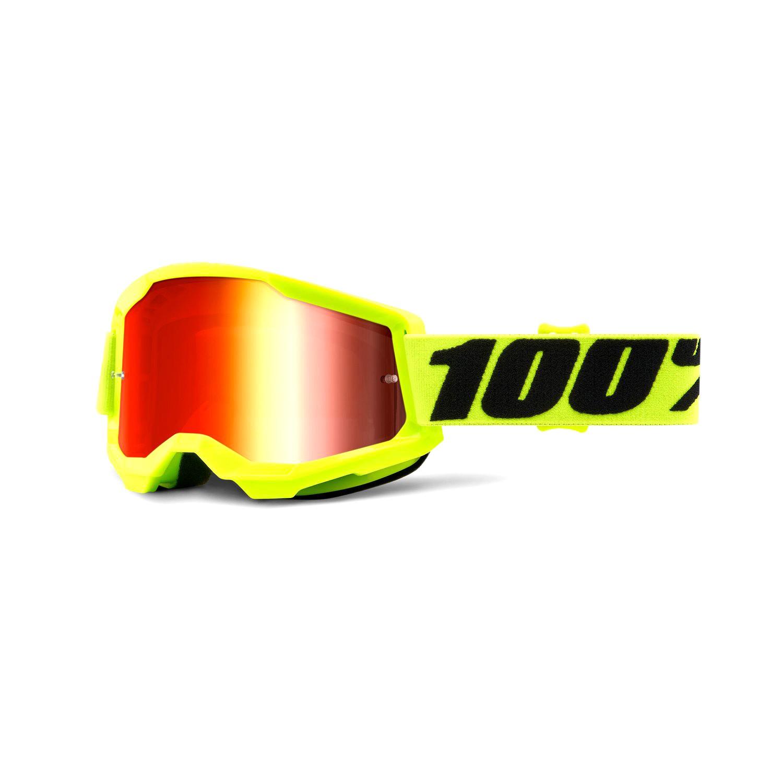 Óculos 100% Strata 2 Lente Espelhado Trilha Motocross