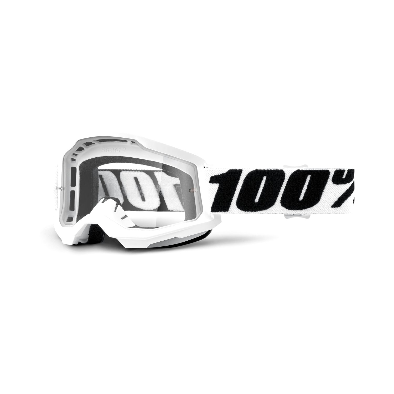 Óculos 100% Strata 2 Lente Transparente Trilha Motocross