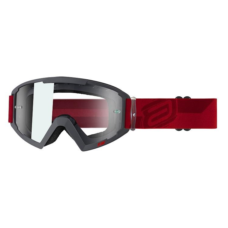 Óculos Asw A2 Kich Cinza Vermelho Trilha Motocross Enduro