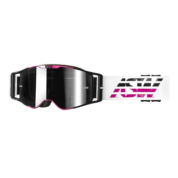 Óculos Asw A3 Triple Branco Rosa Preto Trilha Motocross Enduro