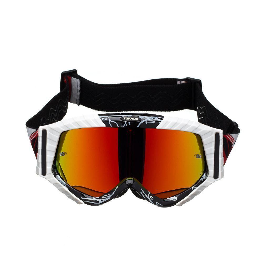 Óculos Texx Raider Mx Motocross Trilha Lente Iridium