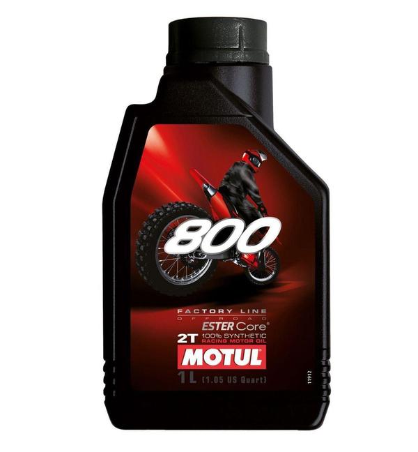 Óleo Motul 800 Motos 2T Factory 100% Sintético 1L Off Road