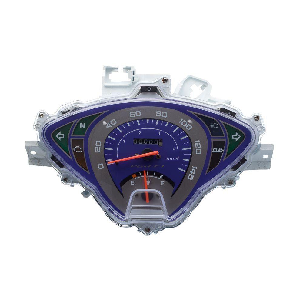 Painel Completo Moto Condor Biz 125 Ks 2011 A 2012 (Azul)