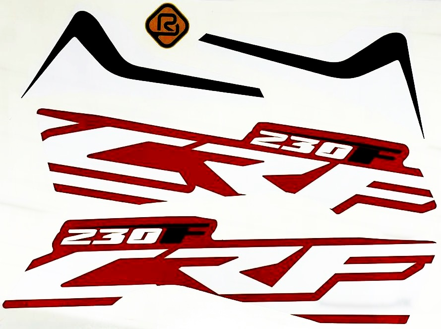 Par De Adesivos Aletas Amx Select Honda Crf 230