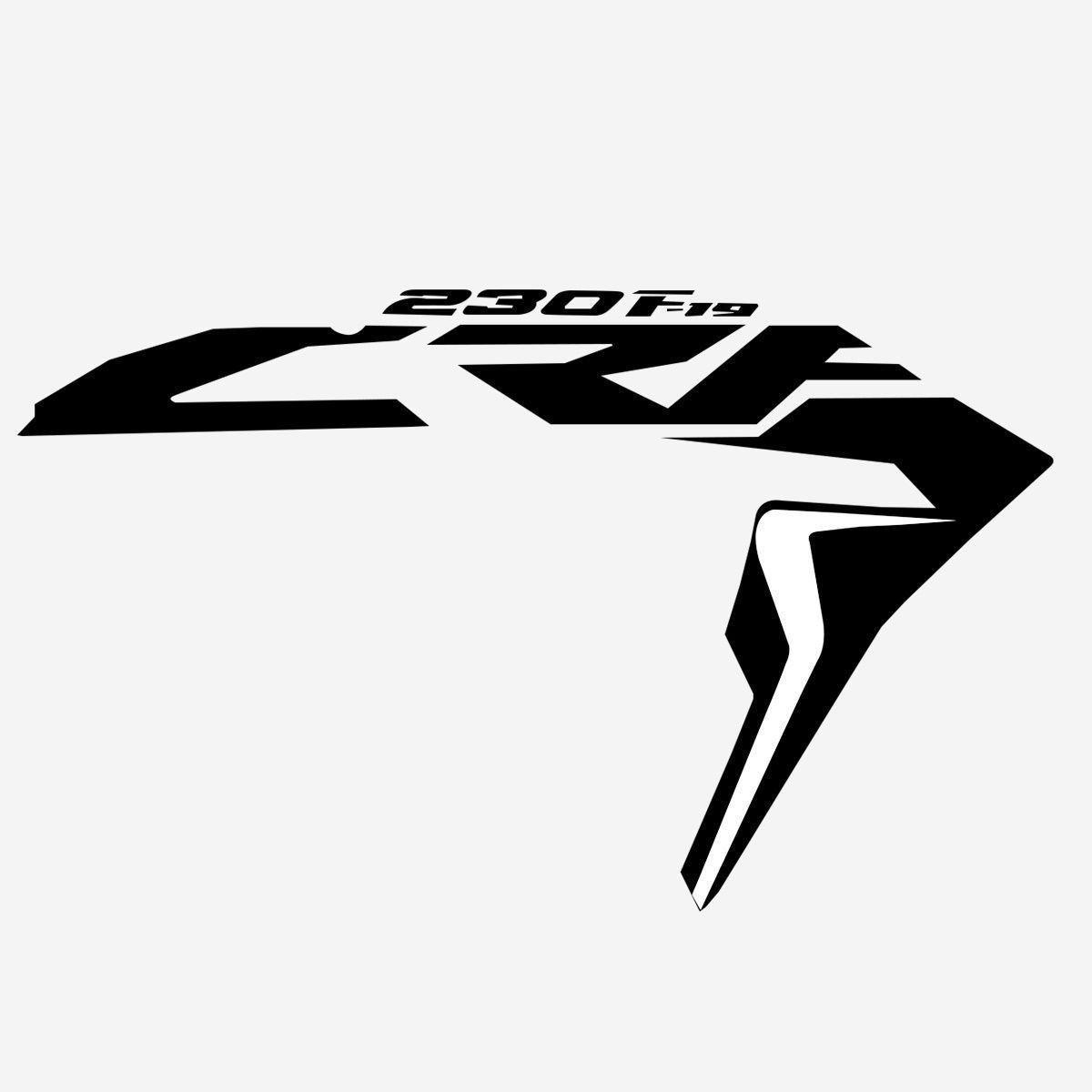 Par De Adesivos Aletas Asa Aba crf 230 Biker F-19 Crf230