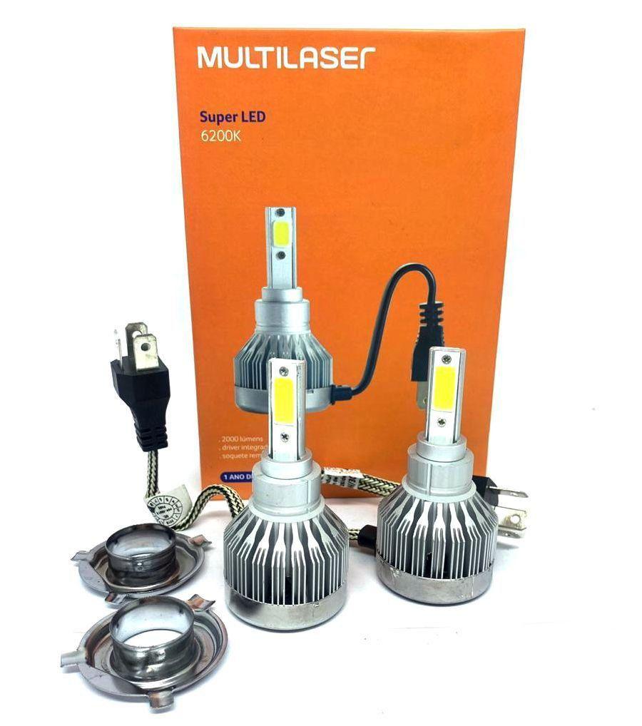 Par Lampadas Super Led H4 6500k Multilaser