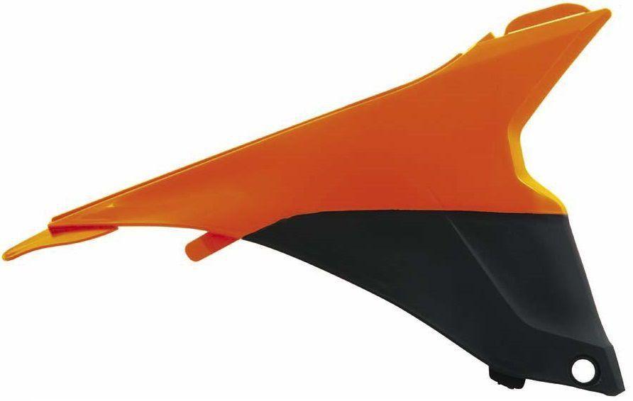 Tampa Lateral Externa Direita Caixa Filtro De Ar Racetech Ktm Sx Sxf 125 A 450 Laranja Preto