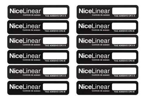10pcs Tag Linear Original Adesivo Cr5 Hcs Etiqueta Sem Parar