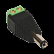 5 Conectores P4 Macho 10 Conectores Bnc Cftv + Organizadora