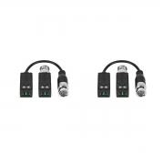 Balun 2 Kit  Passivo Cftv Transmissão Vídeo Vb 500 Intelbras