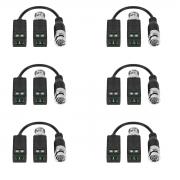 Balun 6 Kit  Passivo Cftv Transmissão Vídeo Vb 500 Intelbras