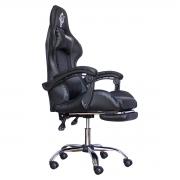 Cadeira Gamer Shoptelbras Tiger SX3 Preta C/ Apoio de Pés