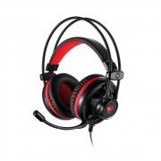 Headset Motospeed Gamer H11 Preto 7.1 Led Vermelho P2 PC