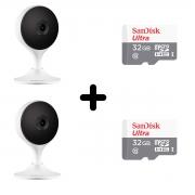 Kit 02 Câmeras Ip Intelbras Im3 Wifi Full Hd 1080p + SD 32gb