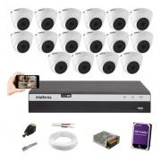 Kit 16 Câm 1080p Intelbras VHD 1220D G5 Dvr MHDX 3116 +1TB
