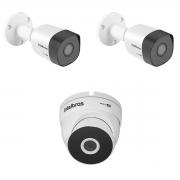 Kit 2 Camera Intelbras VHD 3230B + 1 3220D Metal Full HD