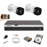 Kit 2 Cameras Intelbras 1220 B Full Hd Dvr Mhdx 3104 1 Tera