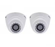 Kit 2 Câmeras Intelbras Dome Hdcvi 720p Hd Vhd 1120d 2,8 Mm