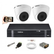 Kit 2 Câmeras Intelbras Vhl 1120 Dome 720p Dvr 4 Canais S/ Hd