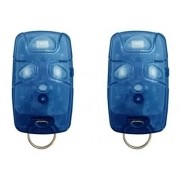 Kit 2 Controle Remoto 433 Mhz 4 Teclas Azul TX4 Linear Portão Alarme