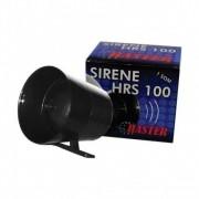 Kit 2 Sirene Compacta De Alta Potência 116db P/ Alarme Preta