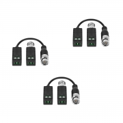 Kit 3 Balun Passivo Cftv Transmissão Vídeo Vb 500 Intelbras
