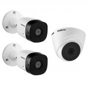 Kit 3 Câmera Intelbras 1220B e 1220D VHD Full HD 20m App Cel