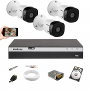 Kit 3 Cameras Intelbras 1220 B Full Hd Dvr Mhdx 3104 1 Tera