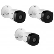Kit 3 Cameras VHD 1120 Bullet Intelbras 20m 3.6mm IP66 720P