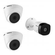 Kit 3 Câmeras VHD Intelbras 1120B e 1120D 720p 20m HDCVI HD