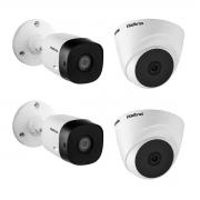 Kit 4 Câmera Intelbras VHD 1220B e 1220D 1080p 20m App Cel