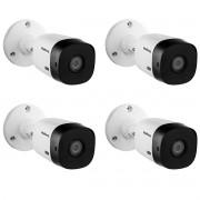 Kit 4 Cameras 1220 Bullet Intelbras 20m Full HD ip66 1080p