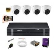 Kit 4 Câmeras 1220D Intelbras Dvr Mhdx 1104 720P C/ HD 1TB