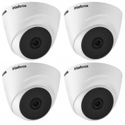 Kit 4 Cameras intelbras 1220 Dome 3.6mm Full HD hdcvi 1080p