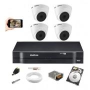 Kit 4 Câmeras Intelbras Vhl 1120 D 720p Dvr 4 Canais C/ HD