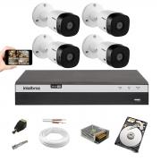 Kit 4 Cftv Cam Intelbras 1220B 1080p Hd Dvr Mhdx 3104 1 Tera
