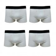 Kit 4 Cuecas Boxer Masculina Lisa Algodão Cotton Cinza