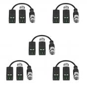 Kit 5 Balun Passivo Cftv Transmissão Vídeo Vb 500 Intelbras