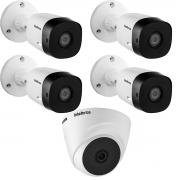 Kit 5 Câm 1120 Bullet e 1120 Dome VHD 720p 20m HD Intelbras