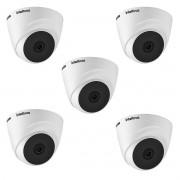 Kit 5 Cam externa intelbras 1220 Dome 3.6mm Full HD 1080p