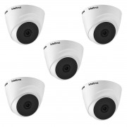 Kit 5 Câmera interna Intelbras VHD 1120 Dome 3.6mm 720p Ip66