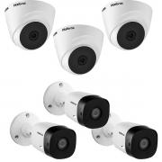 Kit 6 Câmera Intelbras 1220B e 1120D VHD Full HD 20m App Cel
