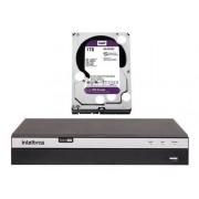 Kit 8 Câmeras Intelbras 1220 e 1120 Dvr Mhdx 5208 1tb Purple