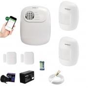 Kit Alarme ANM 24 Net 2 Sensor Infra + 2 Porta App Cel