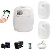 Kit Alarme ANM 24 Net 2 Sensor Infra S Fio Intelbras App Cel
