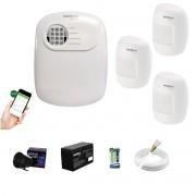 Kit Alarme ANM 24 Net 3 Sensor Infra S Fio Intelbras App Cel