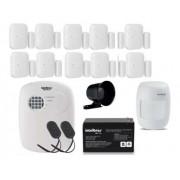 Kit Alarme Intelbras S/ Fio 11 Sensores E Discadora