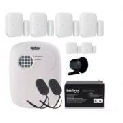 Kit Alarme Intelbras S/ Fio 6 Sensores E Discadora