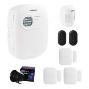 Kit Alarme Intelbras Sensores Infra e Mag Discadora S/ Fio