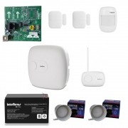 Kit Alarme Sem Fio 3 Sensores Amt 4010 Smart Intelbras